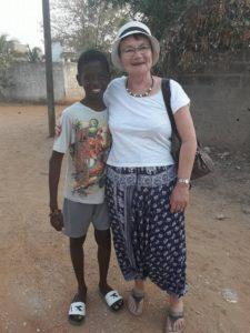 Bakary et sa marraine Martine