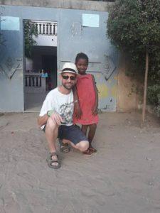 Fatou Aliou et son parrain Jean-Yves