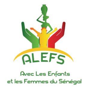 logo ALEFS, avec les enfants et les femmes du Sénégal
